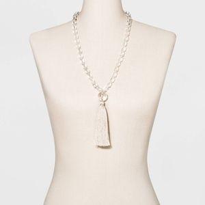 NWT Sugarfix Baublebar tassel pendant necklace